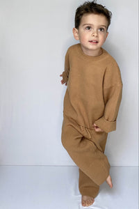 Tan Knitted Set