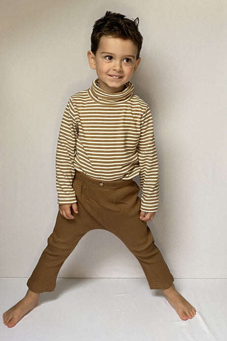 Tan Ribbed Trousers