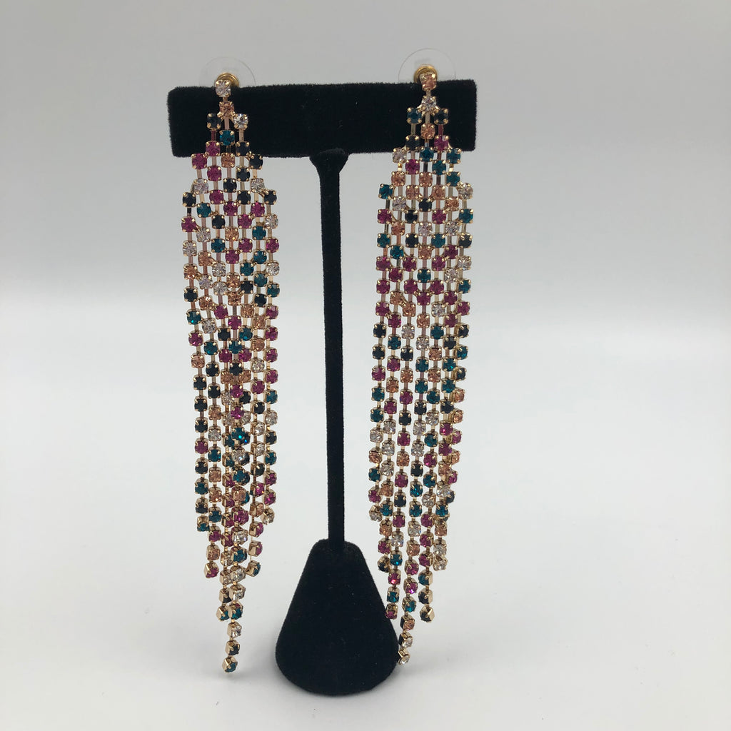 Multicolor Crystal Starlet Earrings