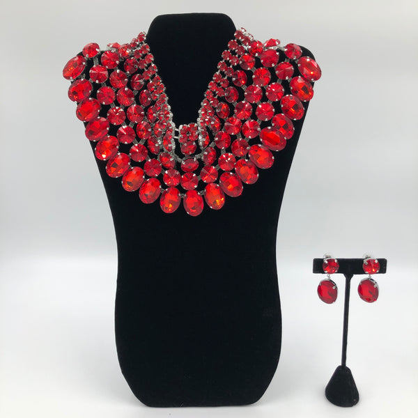 Red Goddess Necklace Set