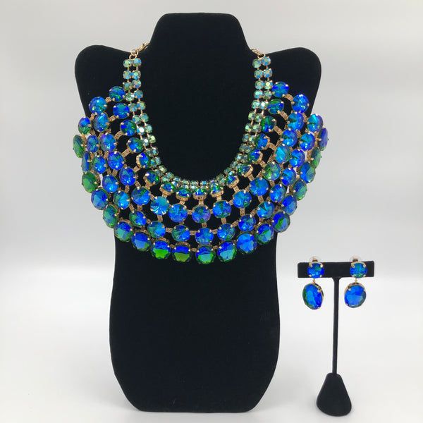 Blue Goddess Necklace Set