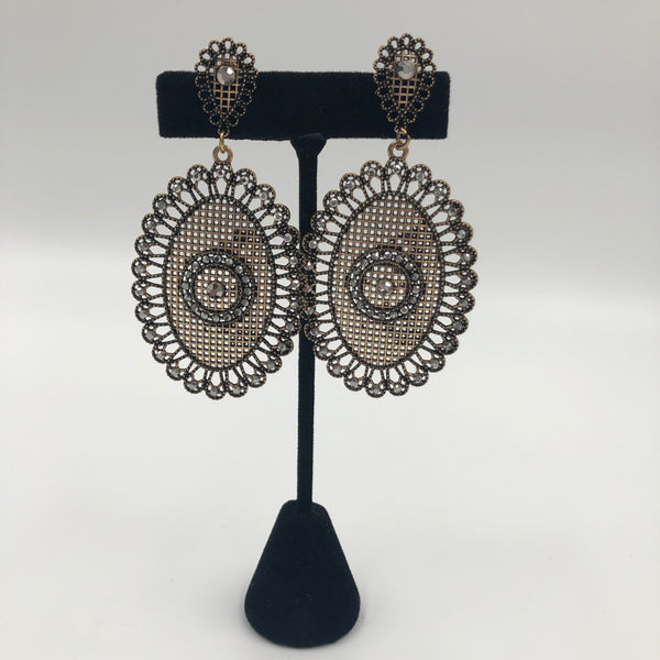 Bronze Paisley Earrings