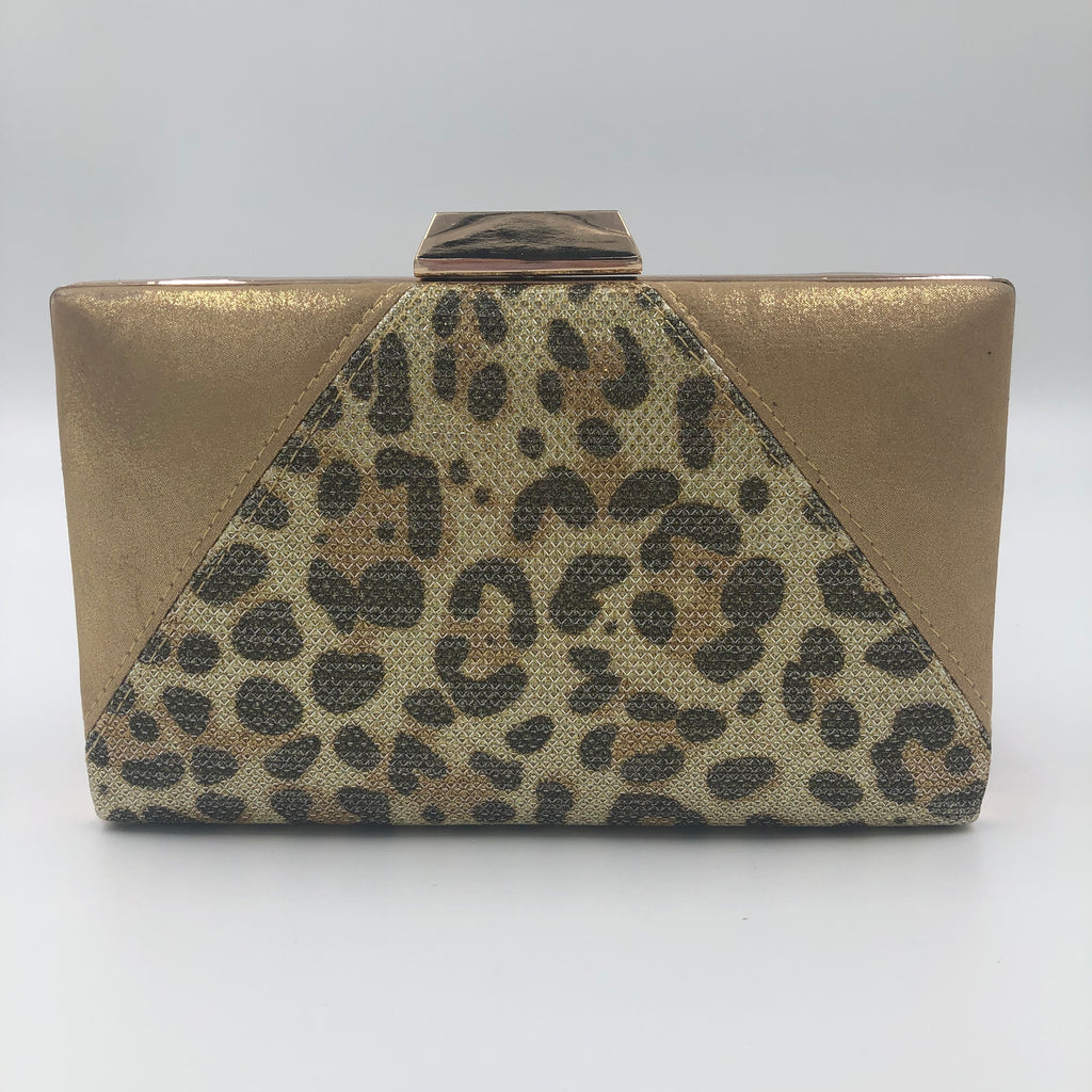 Leopard and Gold Clutch