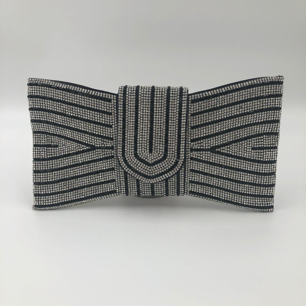 Crystal Bow Tie Clutch