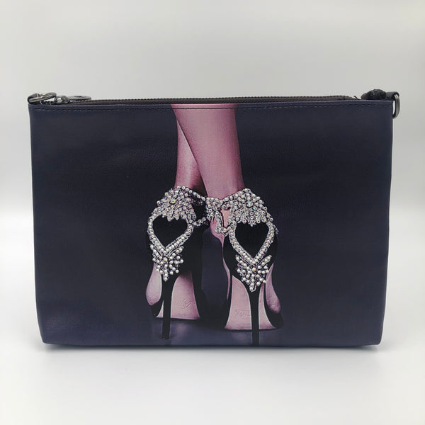 Black Crystal High Heel Bag
