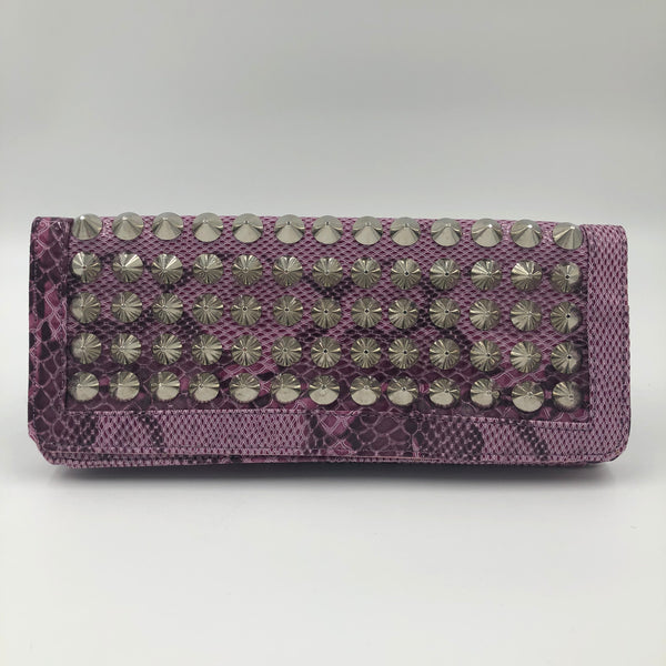 Purple Studded Clutch