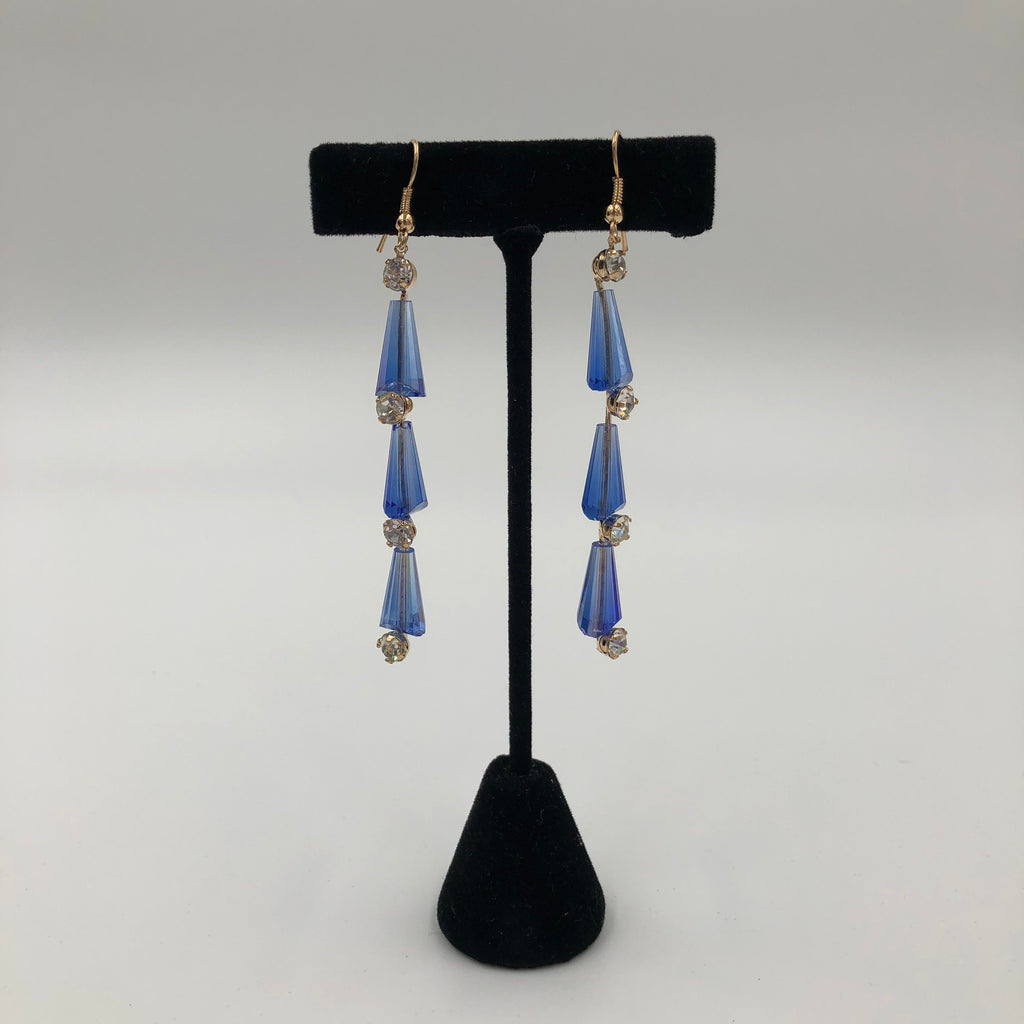 Dangle See-Through Stones Earrings