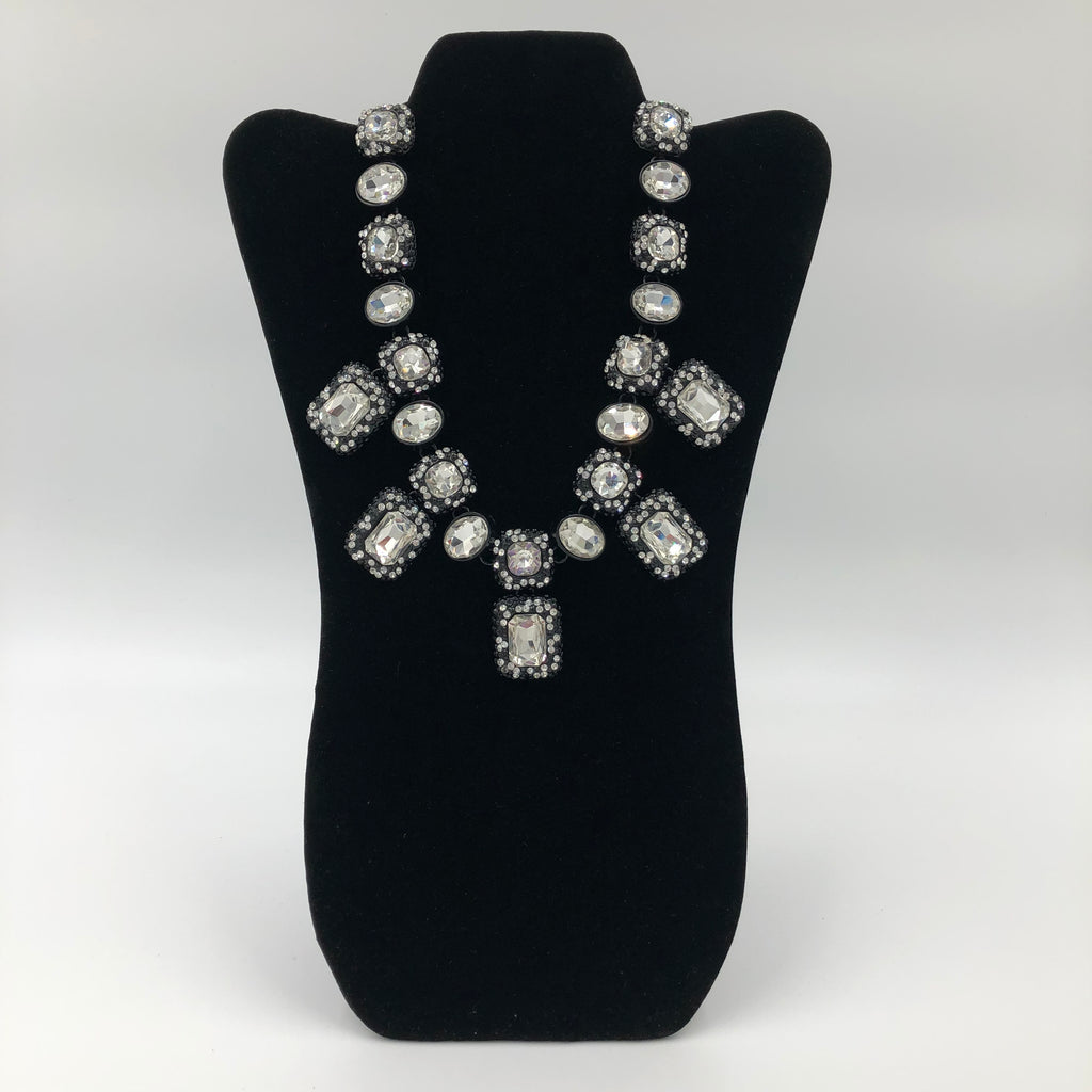 Black and White Crystals Necklace