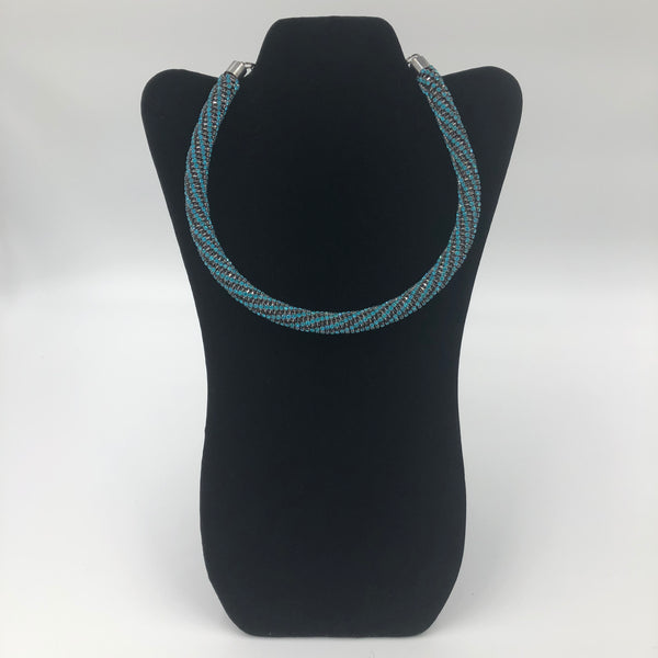 Blue Rope Necklace