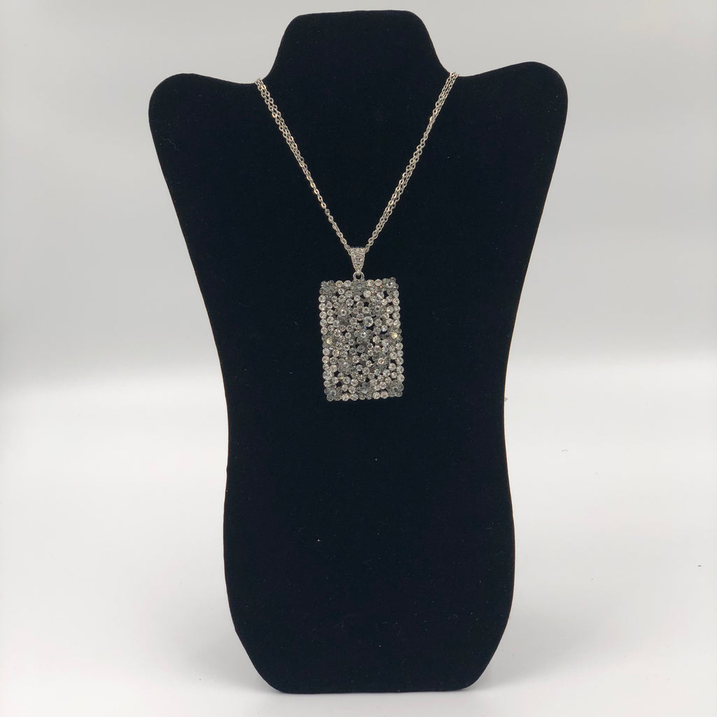 Crystal Rectangle Necklace