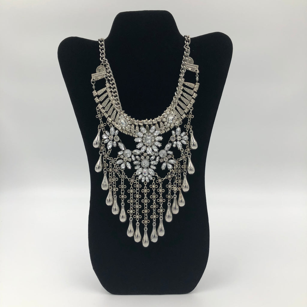 Tear Drop Chandelier Necklace