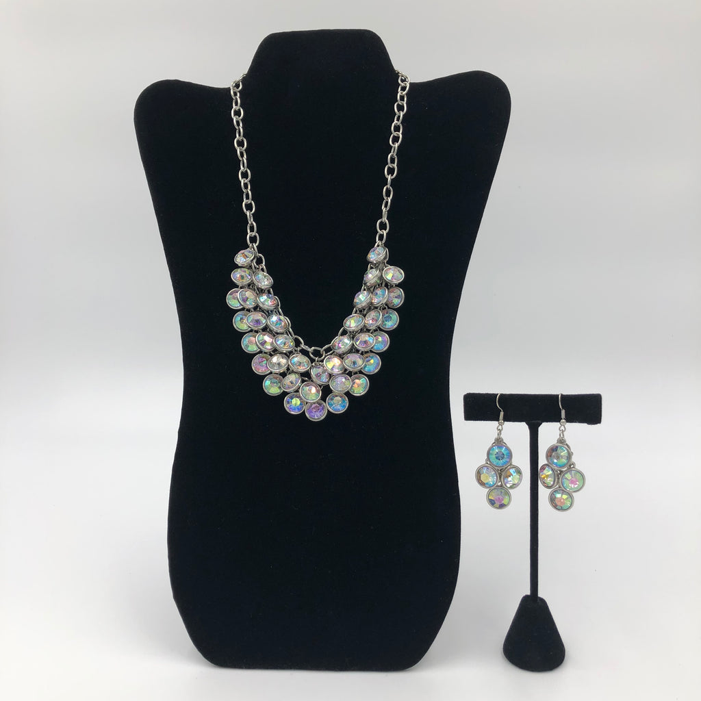 White Crystal Necklace Set