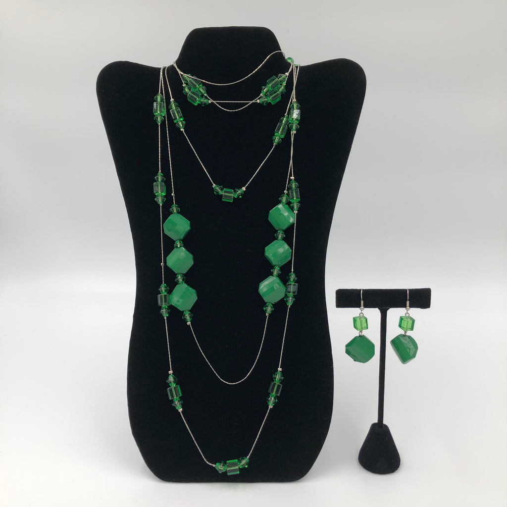 Green Marbles Necklace Set