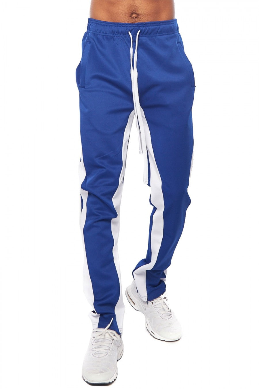 EZ Global Blue and White Track Pants