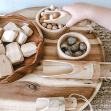 Load image into Gallery viewer, Bamboo Sensory Play Scoop Set