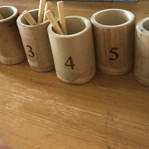 Bamboo counting set