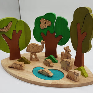 Australian Bushland and Animal Play Set