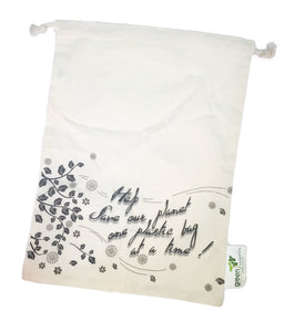 Produce bag set of 4- organic cotton