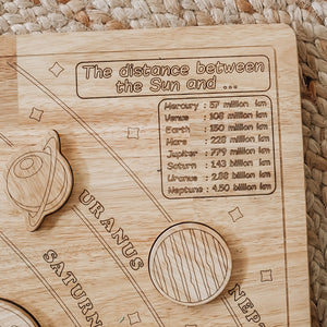 Solar System Wooden Learning Puzzle Set