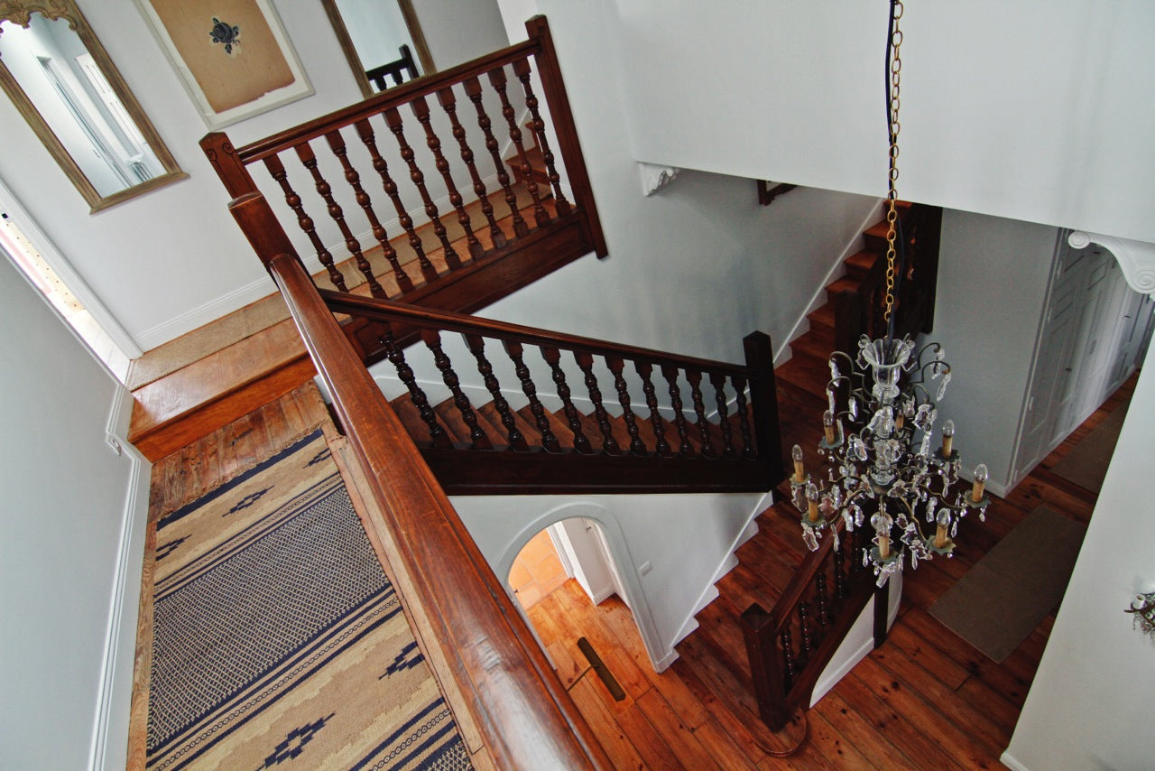 Biarritz holiday home | staircase | chandelier