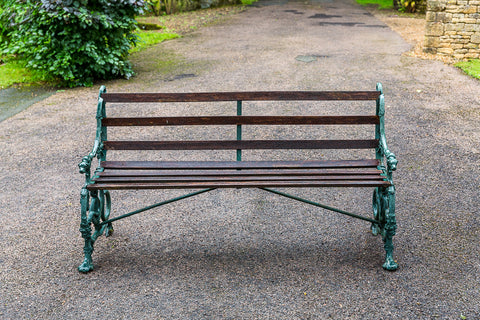 Coalbrookdale Serpent and Grape Cast Iron Bench