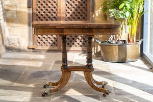 Regency Rosewood Folder Card Table