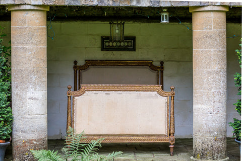 Kingsize Louis XVI Style Gilt Wood Bed