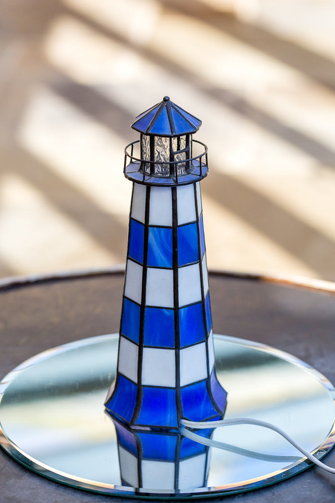 Tiffany Style Lighthouse Lamp