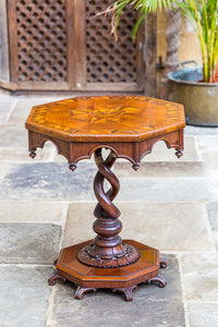 Victorian Oak Octagonal Table