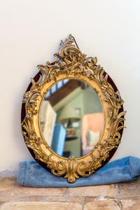 Ornate Victorian Gilt Wood Mirror