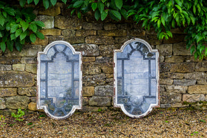 Offbeat Interiors - A Pair of Antique Leaded Windows