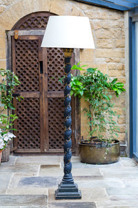 Offbeat Interiors - Black Painted Standard Lamp