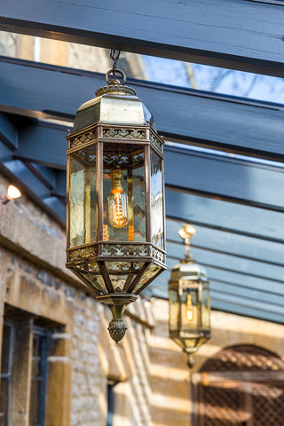 Brass Lanterns in situ