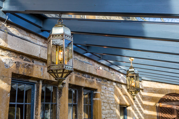 Brass Lanterns hanging