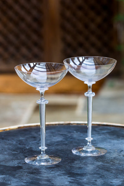 Offbeat Interiors - A Pair of Antique Cocktail Glasses