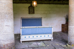 Nineteenth Century French Painted Bed - footboard headboard