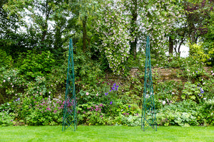 Offbeat Interiors - A Pair of Garden Obelisks