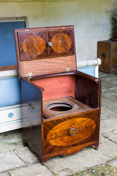 Commode open side view