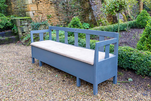 Twentieth Century Painted Pine Hall Bench