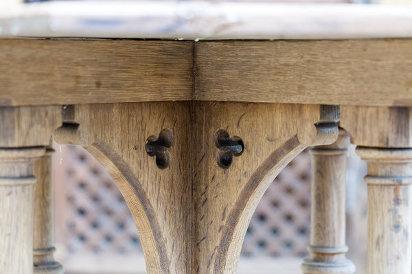 Pugin table base close up
