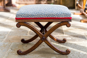 Elegant Refurbished Rosewood Stool