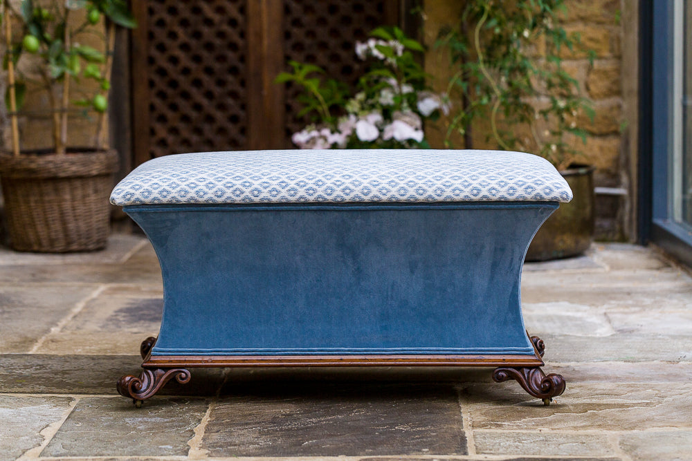Offbeat Interiors - Early Victorian Rosewood Ottoman