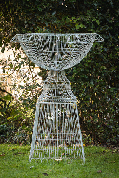 large wirework urn full view
