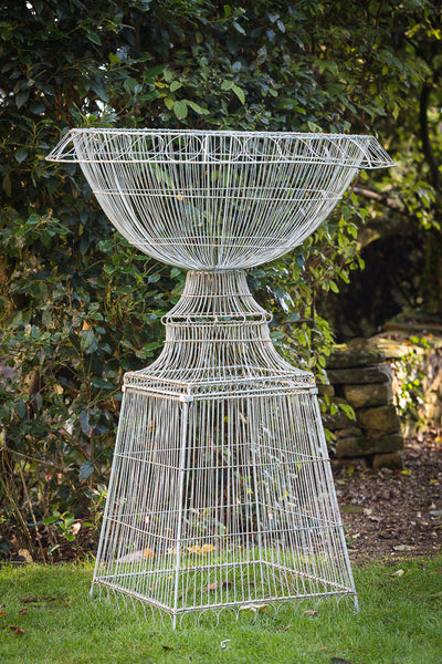 large wirework urn side view