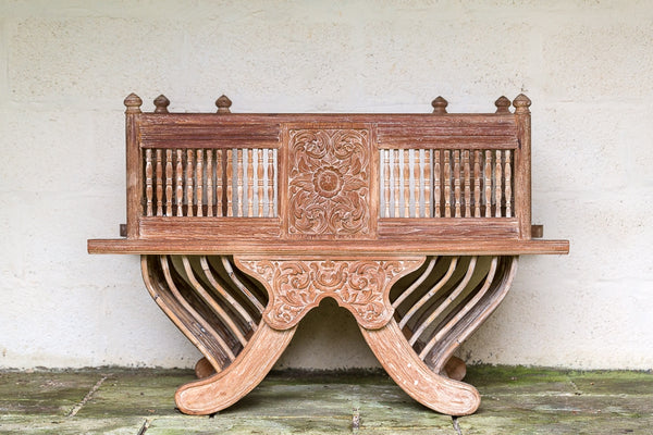 Offbeat Interiors - Small Antique Harwood Indian Elephant Seat