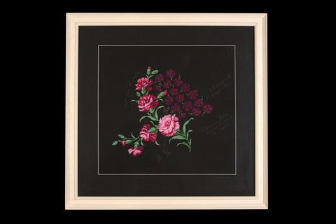 Offbeat Interiors - Bianchini-Ferier Pink Flowers on Black