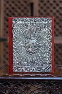 Offbeat Interiors - Victorian Silver Mounted Leather Blotting Pad