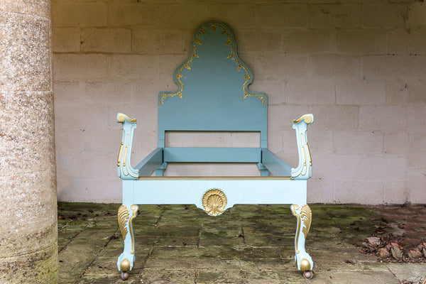 Offbeat Interiors - French Style Painted Single Bed
