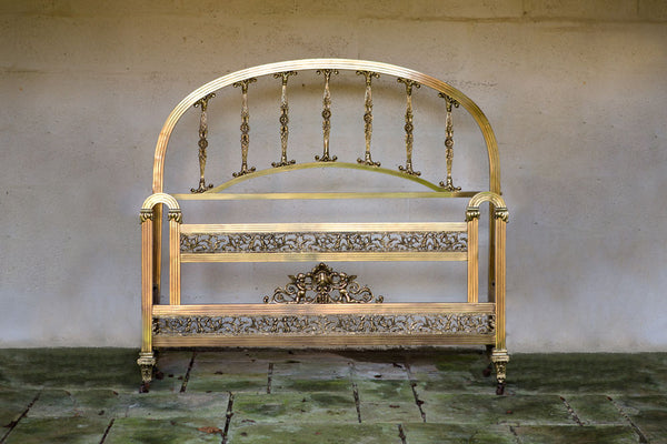 Offbeat Interiors - Early Twentieth Century French Brass Double Bed