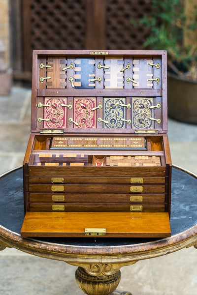 Offbeat Interiors - Victorian Walnut Cased Games Compendium